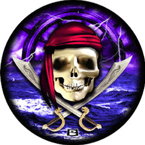 bowlingball.com Pirate Skull w Ship Ball Viz-A-Ball