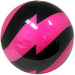 bowlingball.com Spiral Pink/Black Viz-A-Ball Side View