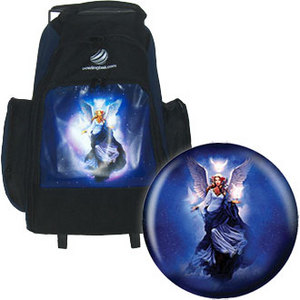 bowlingball.com Angel Ball - Celestial Apparition w/ Single Ball Roller Bag