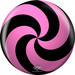 bowlingball.com Spiral Pink/Black Viz-A-Ball w/ Bag