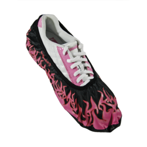Brunswick Blitz Shoe Covers Pink Flames