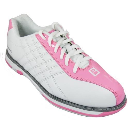 brunswick s glide white pink bowling shoes free shipping