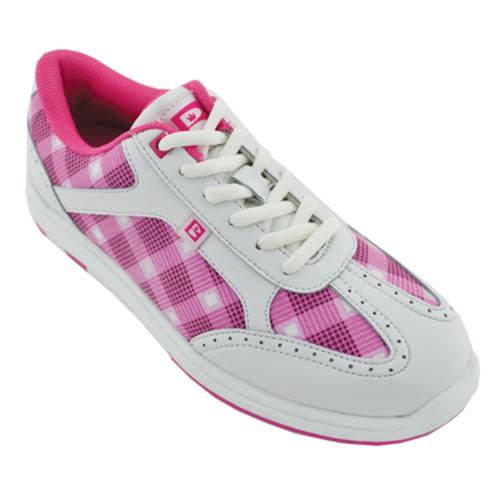 brunswick s pink plaid bowling shoes free shipping