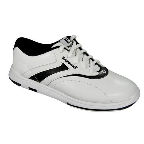 brunswick s silk white black wide width bowling