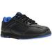 Brunswick Mens Flyer Black/Mag Blue Bowling Shoes