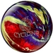 Ebonite Cyclone Red/Purple/Yellow Bowling Balls