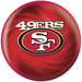 KR Strikeforce NFL San Francisco 49ers ver2 Bowling Balls