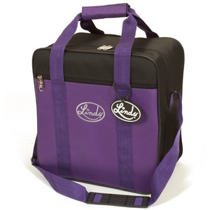 Linds Basic Single Ball Tote Black/Purple
