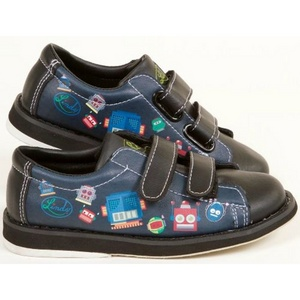 Linds Kids Bots Easy Strap Black