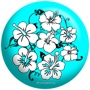 OTB Flower Teal/Black - bowlingball.com Exclusive