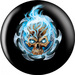 OTB Michael Graham Flaming Blue Skull Bowling Balls