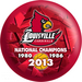 OTB NCAA Louisville Cardinals 2013 National Basketball Champions Bowling Balls