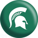 OTB NCAA Michigan State Spartans Bowling Balls