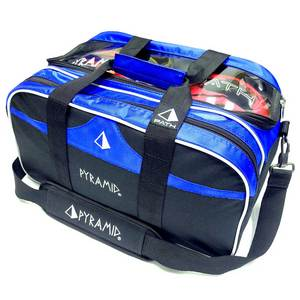 Pyramid Path Double Tote Plus Clear Top Black/Royal Blue