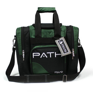 Pyramid Path Single Deluxe Tote Black/Hunter Green