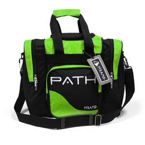 Pyramid Path Single Deluxe Tote Black/Lime Green