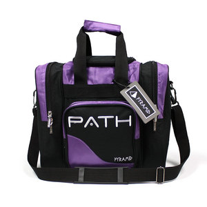 Pyramid Path Single Deluxe Tote Black/Purple Black Light Responsive
