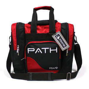 Pyramid Path Single Deluxe Tote Black/Red