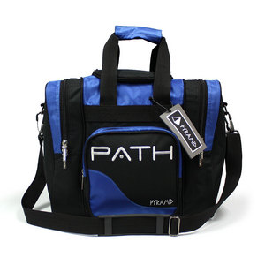 Pyramid Path Single Deluxe Tote Black/Royal Blue