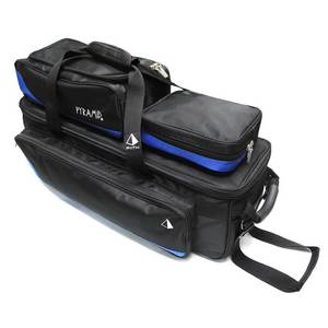 Pyramid Path Triple Tote Roller Plus Black/Royal Blue
