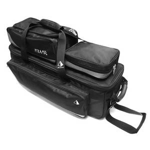Pyramid Path Triple Tote Roller Plus Black/Silver