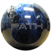 Pyramid Path Blue/Black/White Unique Color Mix Bowling Balls