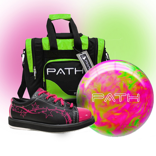 Hot Pink And Black Bowling Shoes