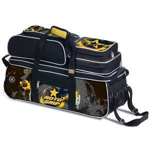Roto Grip 3 Ball Rolling Tote Yellow/Charcoal/Black