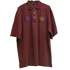 Storm Men's Rapid Fire Burgundy Polo