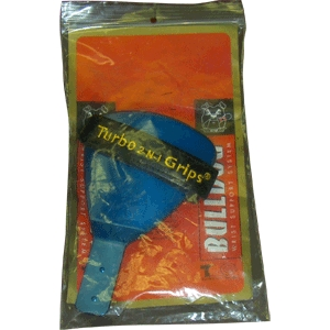Turbo 2-N-1 Grips Bulldog Wrist Support Blue Reverse Attachment Left Handed