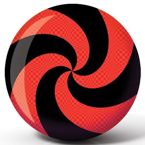 Viz-A-Ball Spiral Red/Black